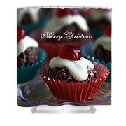 Merry Christmas - Puddings Shower Curtain