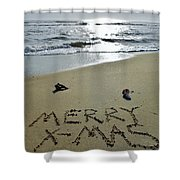 Merry Christmas Sand Art 5 12/25 Shower Curtain