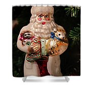 Merry Christmas Santa And Animals Shower Curtain
