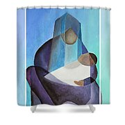 Merry Christmas Virgin Mary And Child  Shower Curtain