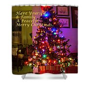 Merry Christmas Wish Shower Curtain