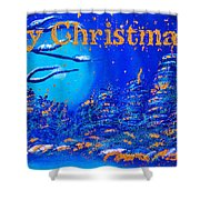 Merry Christmas Wish V2 Shower Curtain
