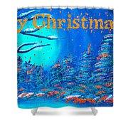 Merry Christmas Wish V3 Shower Curtain