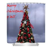 Merry Christmas Y'all Shower Curtain