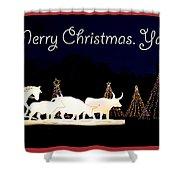 Merry Christmas Ya'll Shower Curtain