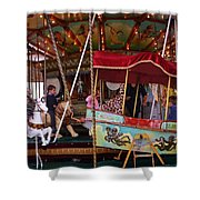 Merry Go Round Shower Curtain
