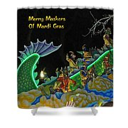 Merry Maskers Of Mardi Gras Shower Curtain