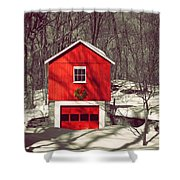 Merry Red Shower Curtain