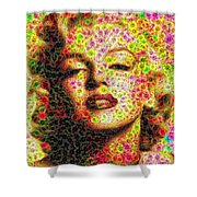 Marilyn - Colored Diamonds Shower Curtain