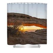 Mesa Arch Sunrise 3 - Canyonlands National Park - Moab Utah Shower Curtain