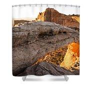 Mesa Arch Sunrise 6 - Canyonlands National Park - Moab Utah Shower Curtain