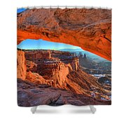 Mesa Sunrise Glow Shower Curtain