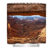 Mesa Sunrise Window Shower Curtain
