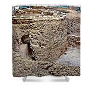 Mesa Top Pit House-900-1100 Ad  On Chapin Mesa Top Loop Road In Mesa Verde National Park-colorado Shower Curtain