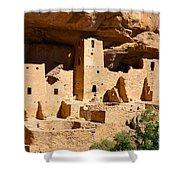 Mesa Verde National Park Cliff Palace Pueblo Anasazi Ruins Shower Curtain