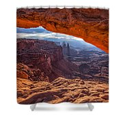 Mesa's View Shower Curtain by Darren  White