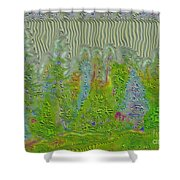 Meshed Tree Abstract Shower Curtain