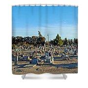 Mesilla Nm Cemetery 3   Shower Curtain