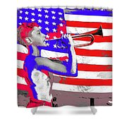 Mess Call Methodist  Service  At Camp Nathan Hale Southfields New York 1943-2014   Shower Curtain