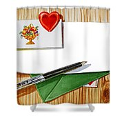 Message From The Heart Shower Curtain