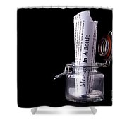 Message In A Bottle Concept Shower Curtain