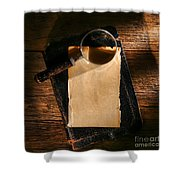 Message Waiting Shower Curtain