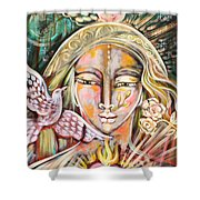 Messenger Of Peace And Possibility Shower Curtain