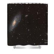 Messier 106 Spiral Galaxy Shower Curtain