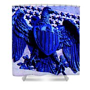 Metal American Eagle Symbol Shower Curtain