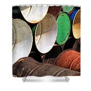 Metal Barrels 1 Shower Curtain