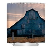 Metal Faced Barn Shower Curtain