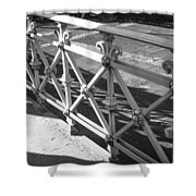 Metal Fence Cologne Germany Shower Curtain