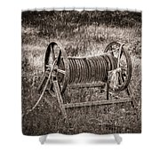 Metal Frame Rope Spindle 1 Shower Curtain