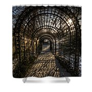 Metal Garden Shower Curtain