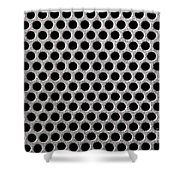 Metal Grill Dot Pattern Shower Curtain by Simon Bratt Photography LRPS