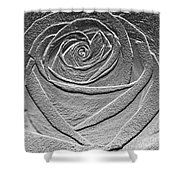 Metal Rose Shower Curtain