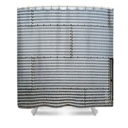 Metal Silo With Door Shower Curtain