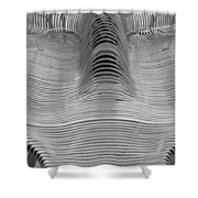 Metal Strips In Balck And White Shower Curtain