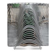 Metal Strips Shower Curtain