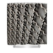 Metal Texture Forms Shower Curtain