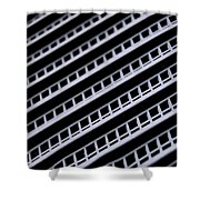 Metal Texture Oblique Shower Curtain