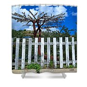 Metal Art Tree Bisbee Shower Curtain