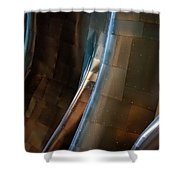 Metal Waves 1 Shower Curtain