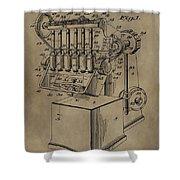 Metal Working Machine Patent Shower Curtain