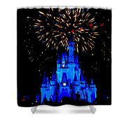 Metallic Castle Shower Curtain