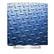 Metallic Floor Shower Curtain
