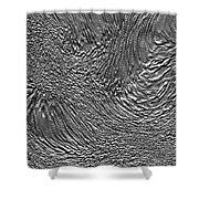 Ice - Metallic Ice Shower Curtain