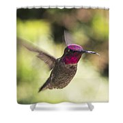 Metallic Red Head Shower Curtain