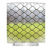 Metallic Wire Fence Shower Curtain