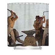 Metallurgy Shower Curtain